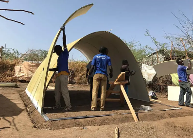 Innovative shelter solutions for refugees